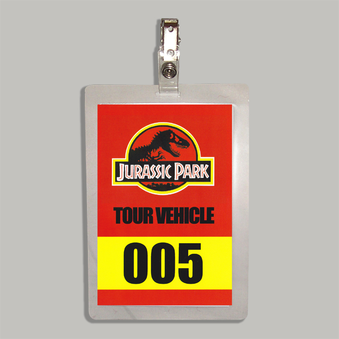 Tour Vehicle Permit Badge Based On The Steven Spielberg Classic Film Jurassic Park