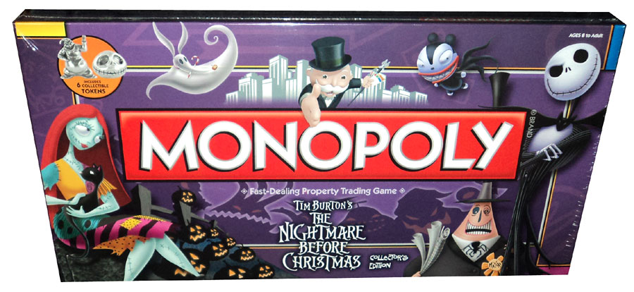 ... Nightmare Before Christmas Collectors Edition Monopoly By Parker Bros