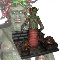 The Medusa And Boobo Painted Model Kit From The Ray Harryhausen Film The Clash Of The Titans By Eiichi Mogi
