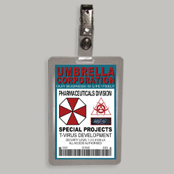 Resident Evil ID Badge-Umbrella Corporation Special Ops Division costume cosplay