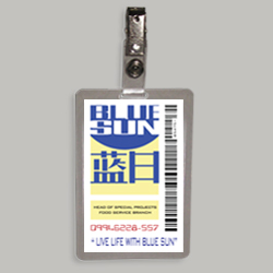 Blue Sun Laminated Cosplay I.D. Badge From The Television Series Firefly / Serenity