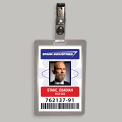 Obadiah Stane Stark Industries Cosplay Identification Badge From Marvels Iron Man