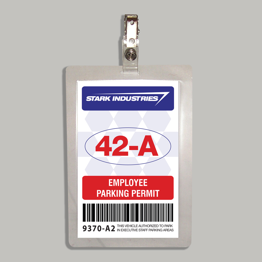 Stark Industries Parking Permit Badge From The Film Iron Man