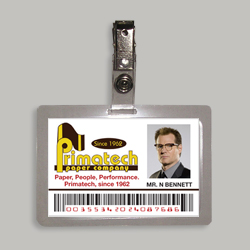 Primatech Paper Company Mr N. Bennett Identification Badge From Television Series Heroes