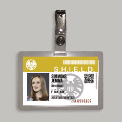 Agents Of S.H.I.E.L.D. Agent Jemma Simmons Cosplay Identification Badge From Marvel's Agents Of Shield T.V. Series