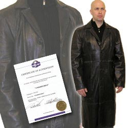 Dr Singe Hero Black Leather Trench Coat From The Vampire Movie