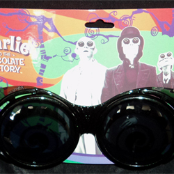 Wonka T.V. Room Goggles In Black From The Tim Burton Movie Charlie And The Chocolate Factory 2005 By Eclipse / Dr. Peeper / Warner Bros