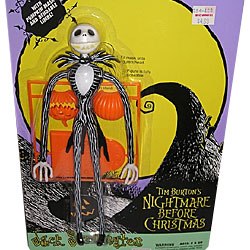 Jack Skellington In A Pinstripe Suit By Hasbro From Tim Burtons Movie The Nightmare Before Christmas Condition 7-